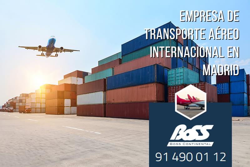 Compañía de transporte aéreo internacional en Madrid
