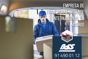 Empresa de transporte internacional urgente en Madrid