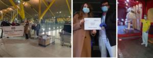 Boss Continental trae 89 Respiradores a Hospitales Españoles