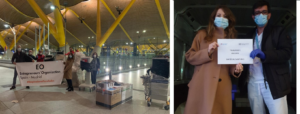 Una de las llegadas de respiradores, que en esta ocasión procedíamos a su entrega en el aeropuerto de Barajas y cada uno de los hospitales se ocupaba de su recogida.